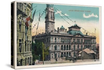 'Lands Department Sydney', c1910-Unknown-Stretched Canvas Print