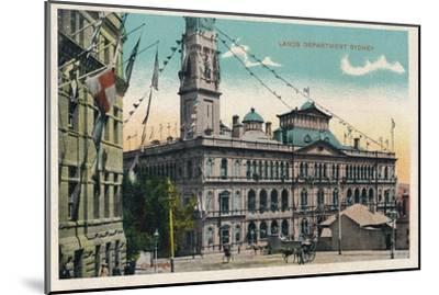 'Lands Department Sydney', c1910-Unknown-Mounted Giclee Print