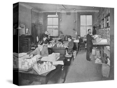 Preparing publications for the press, Patent Office, London, c1903 (1903)-Unknown-Stretched Canvas Print