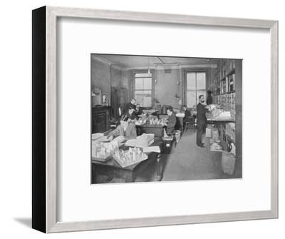 Preparing publications for the press, Patent Office, London, c1903 (1903)-Unknown-Framed Photographic Print
