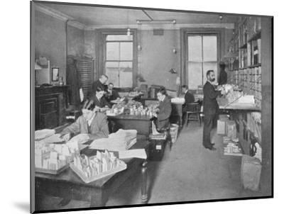 Preparing publications for the press, Patent Office, London, c1903 (1903)-Unknown-Mounted Photographic Print