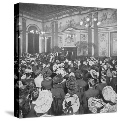 A Sunday evening debate at the Old Playgoers Club, London, c1903 (1903)-Unknown-Stretched Canvas Print