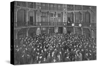 In the Coal Exchange, City of London, c1903 (1903)-Unknown-Stretched Canvas Print