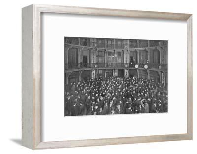 In the Coal Exchange, City of London, c1903 (1903)-Unknown-Framed Photographic Print