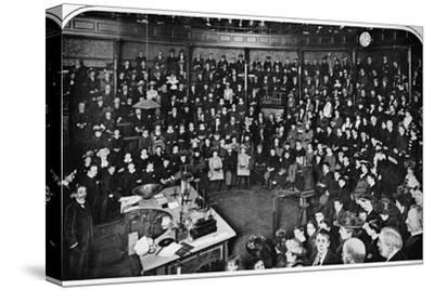 A lecture at the Royal Institution, London, c1903 (1903)-Unknown-Stretched Canvas Print
