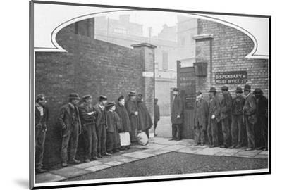 Waiting for admission to St Marylebone Workhouse, Luxborough Street, London, c1901-Unknown-Mounted Photographic Print