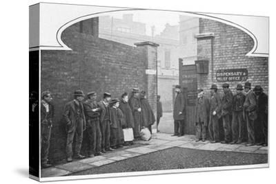 Waiting for admission to St Marylebone Workhouse, Luxborough Street, London, c1901-Unknown-Stretched Canvas Print