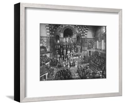 Easter Sunday service at the Greek Church, Bayswater, London, c1903 (1903)-Unknown-Framed Photographic Print