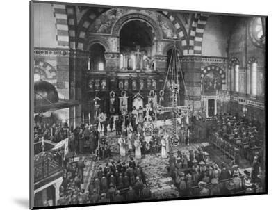 Easter Sunday service at the Greek Church, Bayswater, London, c1903 (1903)-Unknown-Mounted Photographic Print