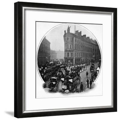 Queen Victoria Street (junction with Cannon Street), City of London, c1903-Unknown-Framed Photographic Print