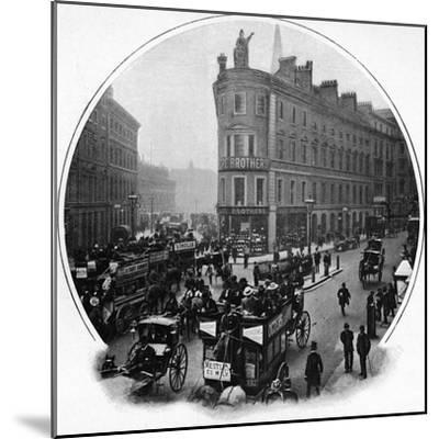 Queen Victoria Street (junction with Cannon Street), City of London, c1903-Unknown-Mounted Photographic Print