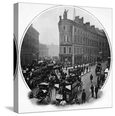 Queen Victoria Street (junction with Cannon Street), City of London, c1903-Unknown-Stretched Canvas Print