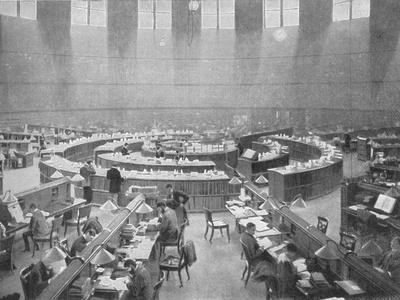 The Reading Room at the British Museum, London, c1903 (1903)-Unknown-Framed Photographic Print