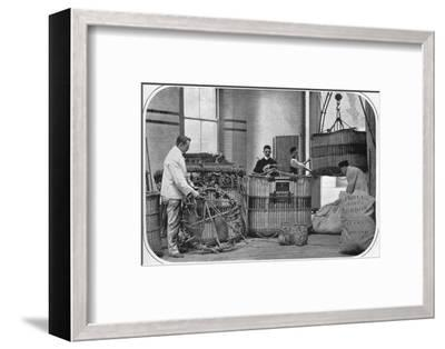 A corner of a hot air balloon factory, London, c1903 (1903)-Unknown-Framed Photographic Print
