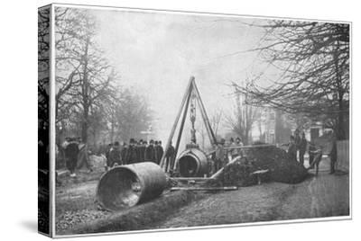 Laying of a big water main by the Southwark and Vauxhall Water Company, London, c1902-Unknown-Stretched Canvas Print