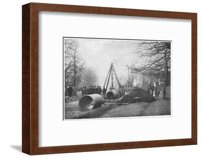 Laying of a big water main by the Southwark and Vauxhall Water Company, London, c1902-Unknown-Framed Photographic Print