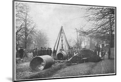 Laying of a big water main by the Southwark and Vauxhall Water Company, London, c1902-Unknown-Mounted Photographic Print