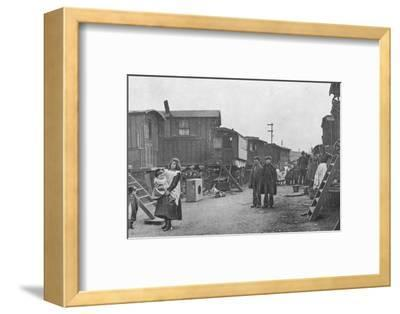 A travellers' encampment, Battersea, London, c1903 (1903)-Unknown-Framed Photographic Print