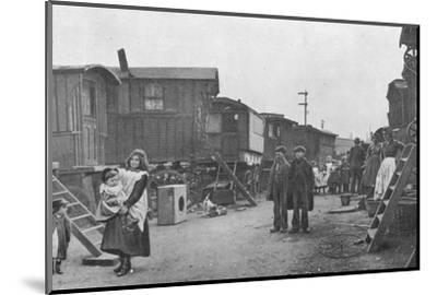 A travellers' encampment, Battersea, London, c1903 (1903)-Unknown-Mounted Photographic Print