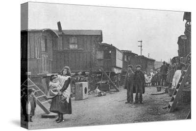 A travellers' encampment, Battersea, London, c1903 (1903)-Unknown-Stretched Canvas Print