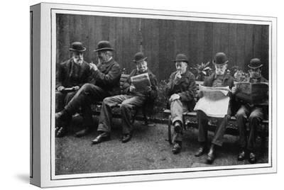 In the airing yard, St Marylebone Workhouse, Luxborough Street, London, c1901-Unknown-Stretched Canvas Print