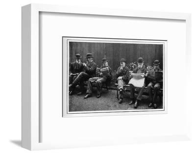 In the airing yard, St Marylebone Workhouse, Luxborough Street, London, c1901-Unknown-Framed Photographic Print