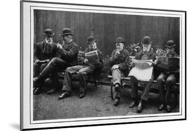 In the airing yard, St Marylebone Workhouse, Luxborough Street, London, c1901-Unknown-Mounted Photographic Print
