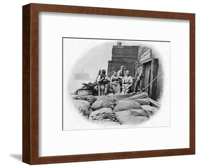 On board a lighter, London, c1900 (1903)-Unknown-Framed Photographic Print