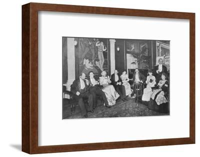 In the Electrophone Salon, Gerrard Street, London, c1903 (1903)-Unknown-Framed Photographic Print