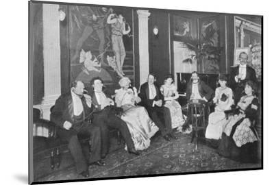 In the Electrophone Salon, Gerrard Street, London, c1903 (1903)-Unknown-Mounted Photographic Print