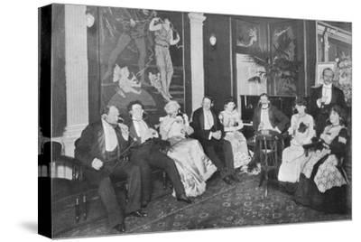 In the Electrophone Salon, Gerrard Street, London, c1903 (1903)-Unknown-Stretched Canvas Print