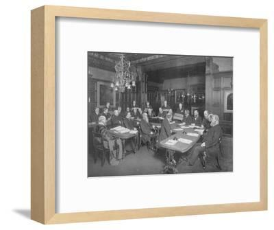 Court of the Cutlers' Company: examining the work of their apprentices, London, 1902-Unknown-Framed Giclee Print