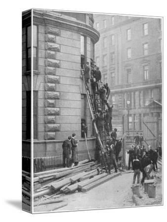 Servants' fire brigade at the Hotel Cecil, London, c1903 (1903)-Unknown-Stretched Canvas Print