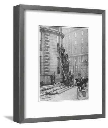 Servants' fire brigade at the Hotel Cecil, London, c1903 (1903)-Unknown-Framed Photographic Print