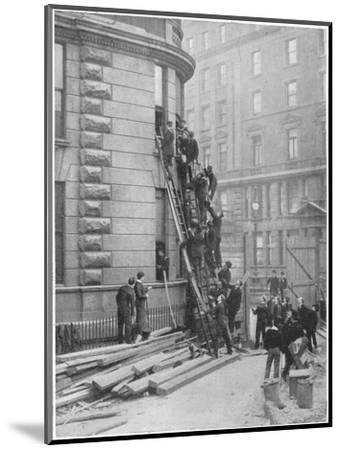 Servants' fire brigade at the Hotel Cecil, London, c1903 (1903)-Unknown-Mounted Photographic Print