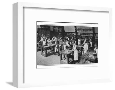 A manual training centre: woodwork, London, c1900 (1901)-Unknown-Framed Photographic Print