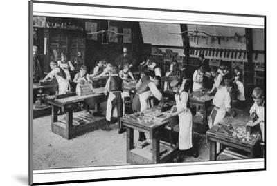A manual training centre: woodwork, London, c1900 (1901)-Unknown-Mounted Photographic Print