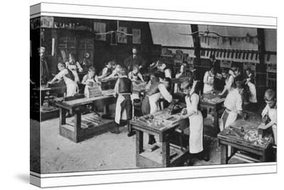 A manual training centre: woodwork, London, c1900 (1901)-Unknown-Stretched Canvas Print