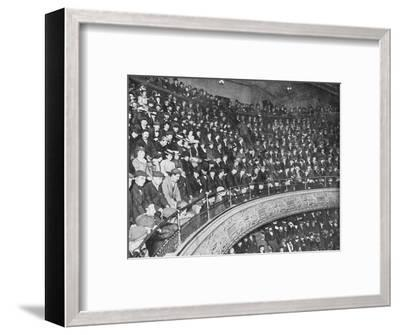 A music hall gallery, London, c1900 (1901)-Unknown-Framed Photographic Print