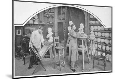 Preparing models at Madame Tussaud's, London, c1903 (1903)-Unknown-Mounted Photographic Print