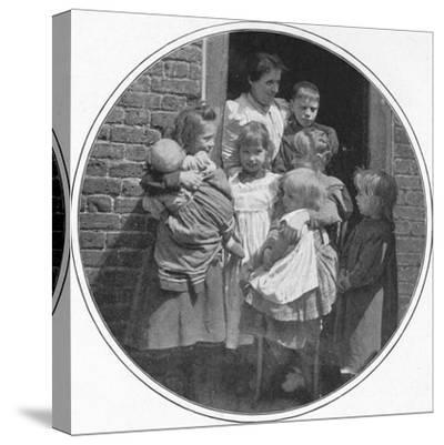 A happy little group, London, c1901 (1901)-Unknown-Stretched Canvas Print