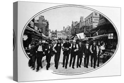 Street melody, London, c1901 (1901)-Unknown-Stretched Canvas Print
