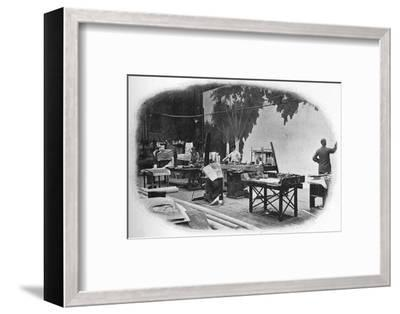 Scene painting, London, c1900 (1901)-Unknown-Framed Photographic Print