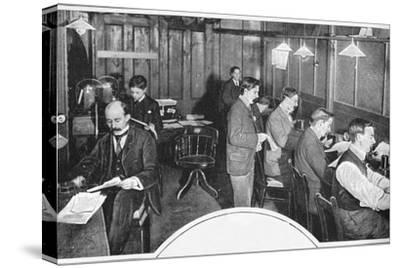 Tape and telegraph room of the Daily Express newspaper, London, c1900 (1903)-Unknown-Stretched Canvas Print