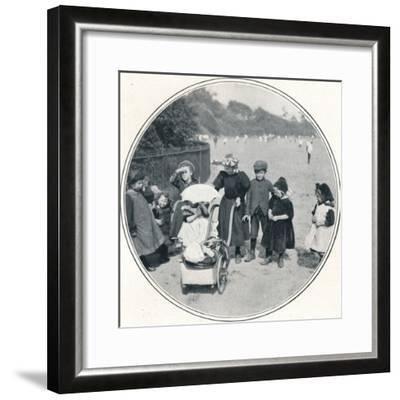 The little mother, Regent's Park, London, c1900 (1901)-Unknown-Framed Photographic Print
