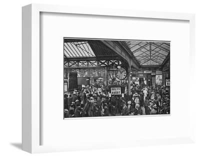 Crowds in Waterloo Station heading off to Ascot races, London, c1900 (1901)-Unknown-Framed Photographic Print