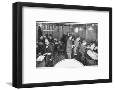 Tape and telegraph room of the Daily Express newspaper, London, c1900 (1903)-Unknown-Framed Photographic Print