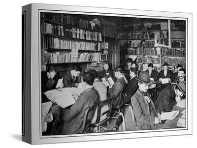 The Free Russian Library and reading room, 15 Whitechapel Road, Stepney, London, c1901-Unknown-Stretched Canvas Print
