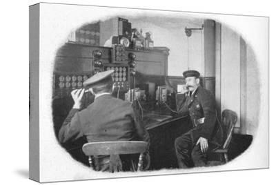 At the telephone, London Fire Brigade, c1900 (1901)-Unknown-Stretched Canvas Print