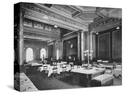 Coffee room of the Carlton Club, London, c1900 (1901)-Unknown-Stretched Canvas Print